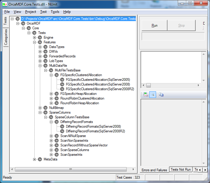 Automated Testing of OrcaMDF Against Multiple SQL Server