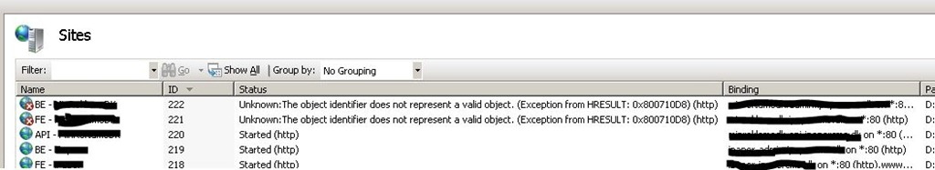 The Object Identifier Does Not Represent a Valid Object | Mark S